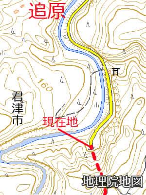 追原廃集落札郷トンネル北側