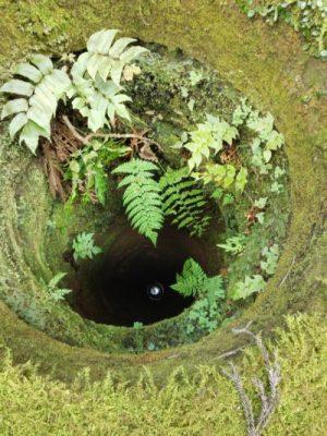 集落に残された井戸