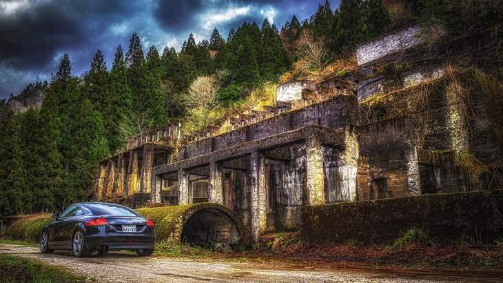 【滋賀県】【廃鉱山】秘境に眠る古びた神殿!土倉鉱山跡を探索せよ!