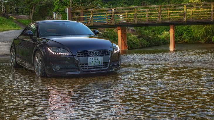 【福島県】【秘境】車で渡れる川!?内郷白水河川道路