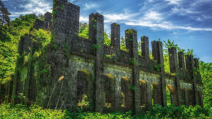 【新潟県】【廃鉱山】秘境に隠れた絶景古代遺跡!持倉鉱山跡